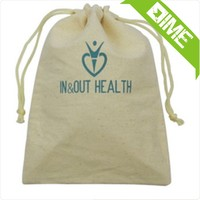 Simple Printing Jute Cotton Pouch Bag