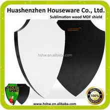sublimation wooden MDF shield for heat transfer wholesales