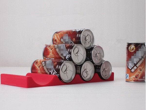 modern coke/beer bottle silicone display shelf