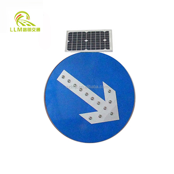 LED Solar Turn right directional sign arrow board