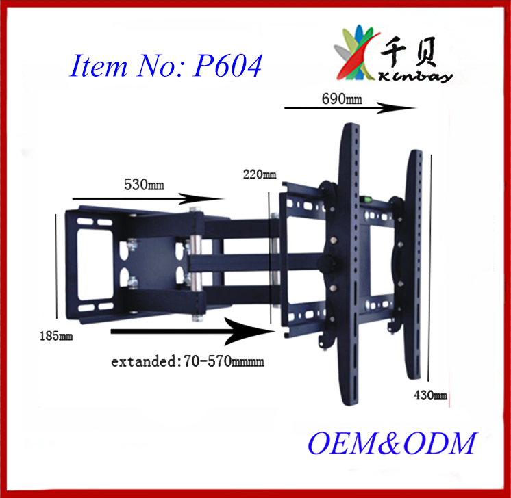 spin 360 agree tilt 30agree 40-70inch LCD Plasma folding china removable hisense tv wall mount tv bracket