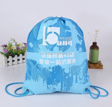 factory custom 420d polyester drawstring gym bag for promotion