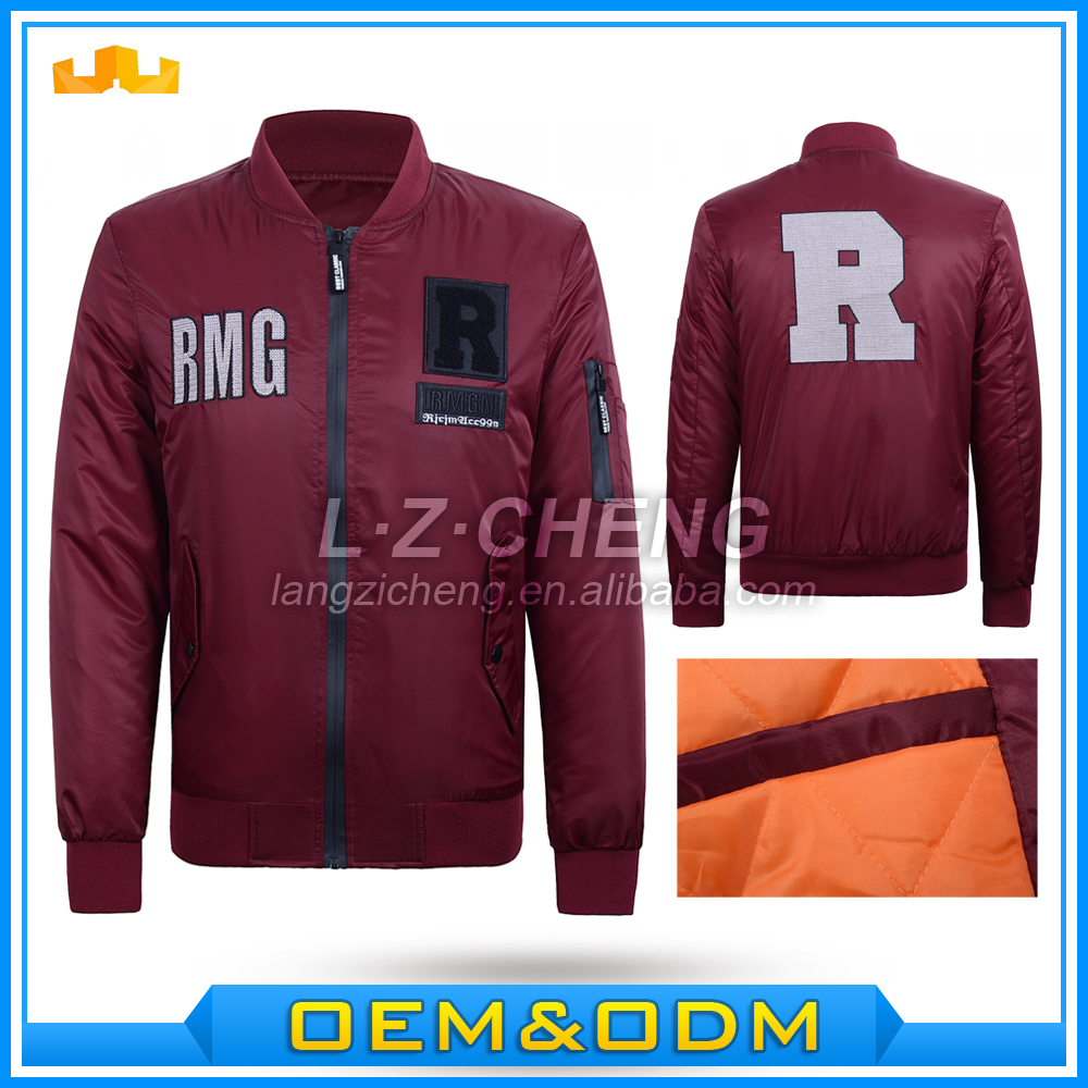 Wholesale <strong>007</strong> Polyester Mens Printing Flight Bomber Jacket