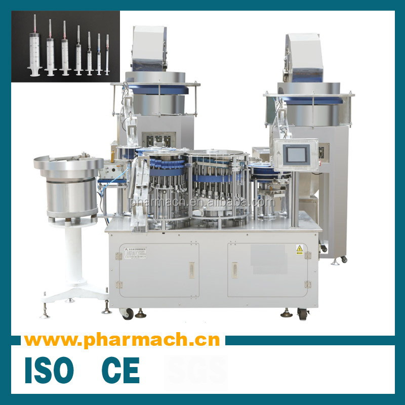 Hot sell fully automatic disposable syringe manufacturing making assembly machine