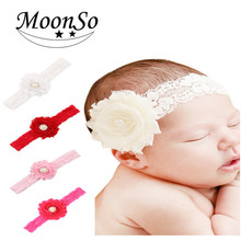 European springy <strong>Hair</strong> <strong>Accessories</strong> for baby children lace flower <strong>Hair</strong> Band headband MoonSo AH5680