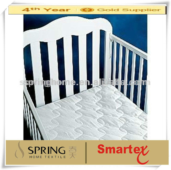 Super Quality 100% cotton quilted waterproof crib mattress pad