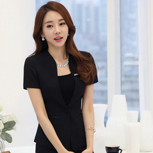 New Style Sweet Womens western-style clothes Short- Sleeve 3PCS Slim business women formal suits