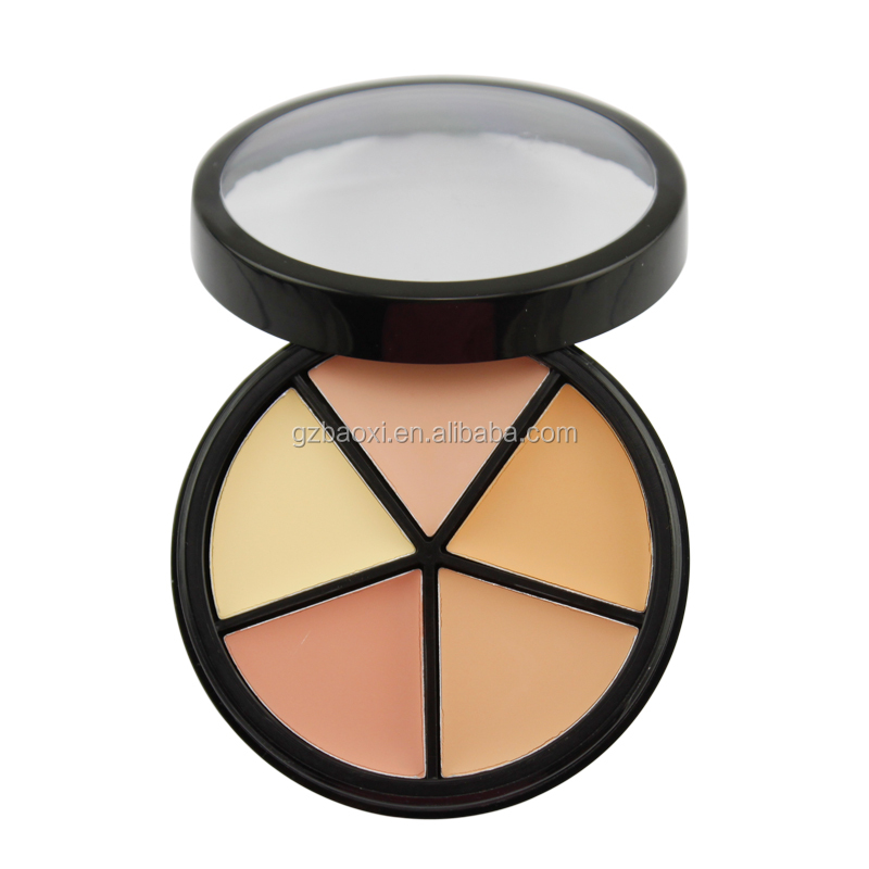 private label 5 color cream concealer