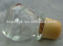 Glass cap cork bottle stopper TBGL24.4-32.4-43.8-21.8-45.1