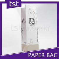 K34 Custom Design Colorful Recyclable Paper Packaging Bag For Wine