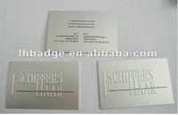 metal embossed nameplate, aluminum nameplate, metal business card