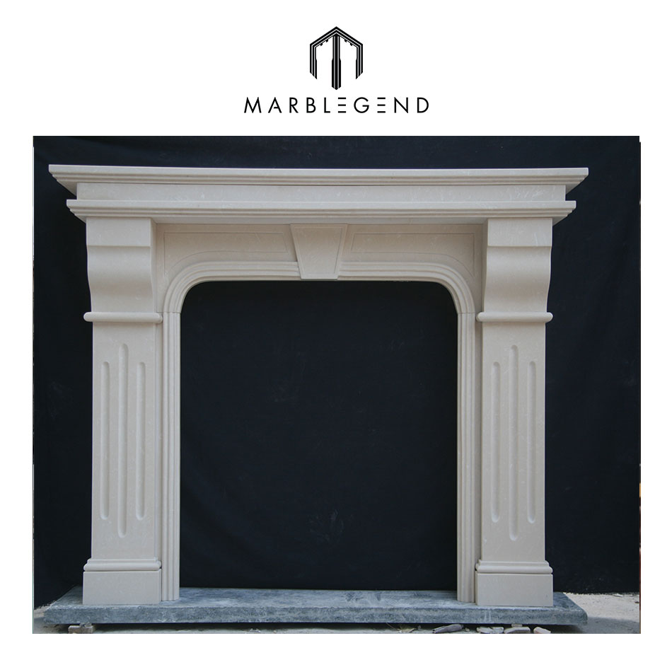 PFM factory wholesale elaborate fireplace mantel carved
