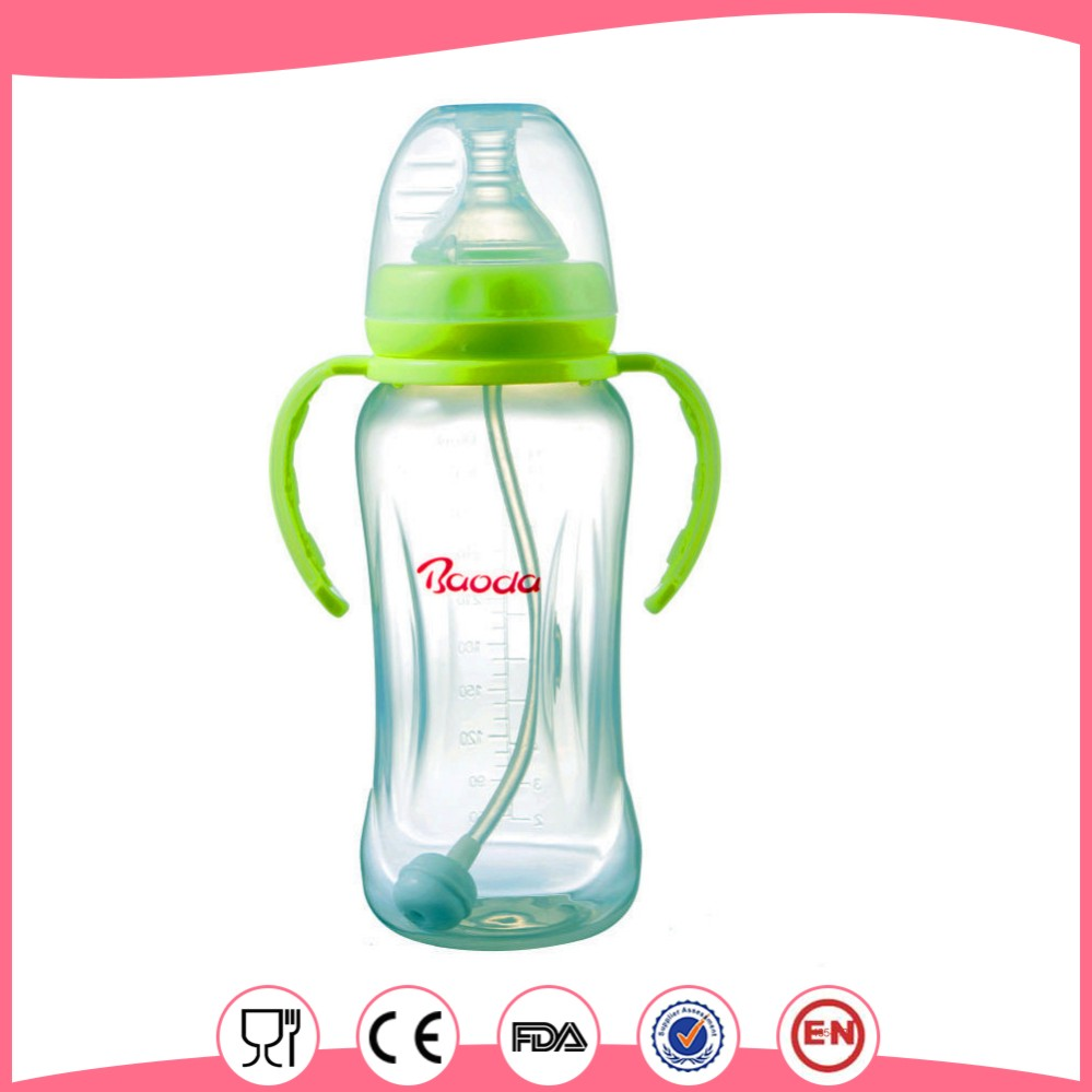 baby feeding bottle with handle
