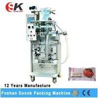 Water Vegetable Oil Plastic Bag Liquid Filling Sealing Machine