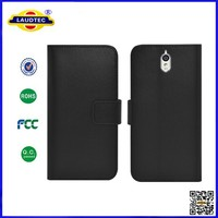 With Card Slot and Stand Function Bookstyle Genuine Leather Wallet Case For Huawei Y625