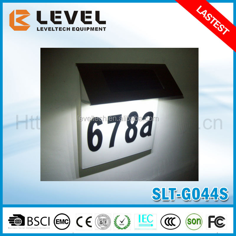 4pcs Supper brightness LED ABS+Stainless Steel Solar Powered House Address Light With Numbers