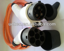 IEC 62196 EV cable connector/connector type 2 male to connector type 1 female