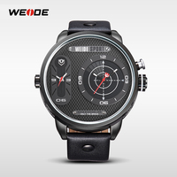 Alibaba China WEIDE WH3409 Oversize Sport Watch Big Strap Genuine Leather LED Quartz Watch For Men