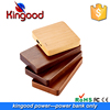 Customized logo classic gift power bank luxury wooden charger for all phone