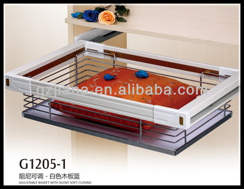 Wardrobe fitting adjustable storage cabinet basket in Guangdong