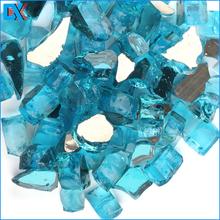 Popular Caribbean Blue Fire Glass For Fire Table