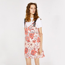 Guangdong sleeveless strap sweet dress fashion floral dress for ladies