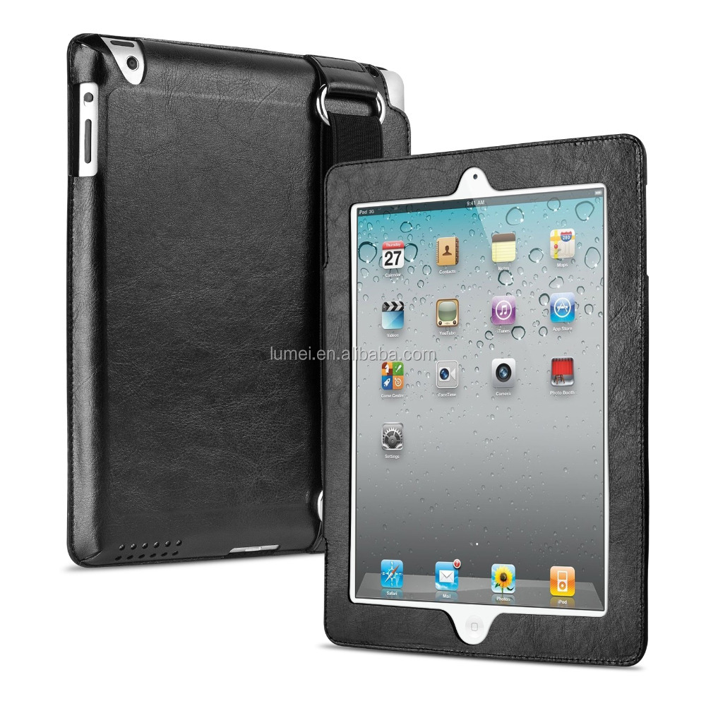 Pu Leather Car Back Seat Headrest Mount Holder For Ipad 2/3/4