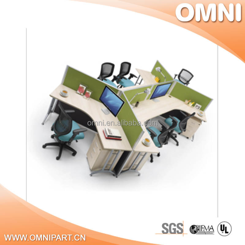 quality modern glass top office table design , promotion modern office table photos