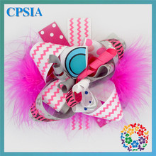 Feather Elastic Headband Baby Boutique Wholesale China Hair Bows