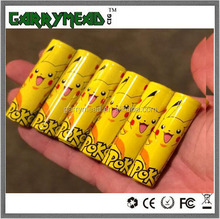 20700 battery wrap custom Battery skin Vape Wraps Battery Sticker label colorful pvc heat shrink battery tube awt 18650 Battery
