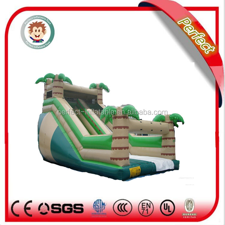 Inflatable games commercial cheap palm tree inflatable water slide for sale