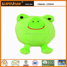 cute frog shaped stuffed plush toys /toys cushion for babies