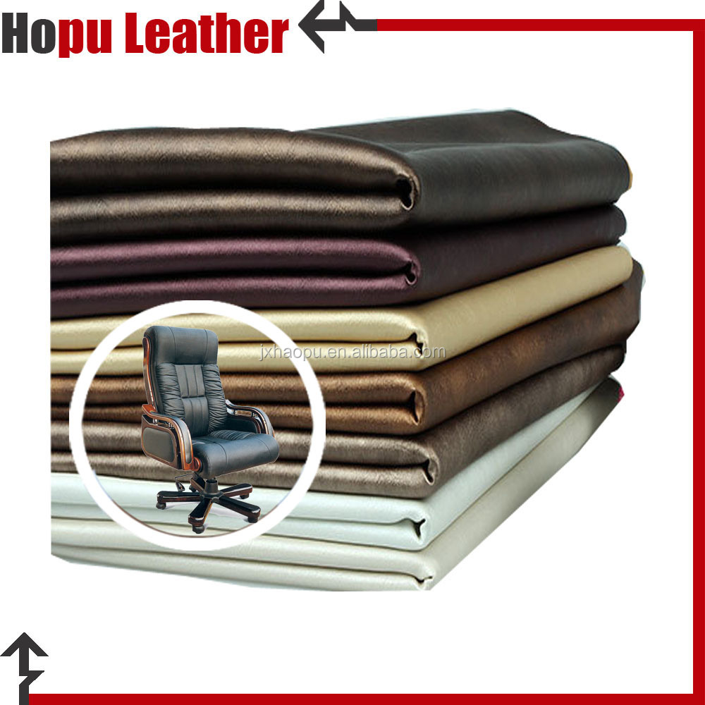 eco-friendly material double color pu leather for chair