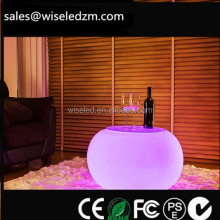 Plastic lounge event LED glowing furniture , Portable Apple LED cocktail bar table 16color change with remote controller