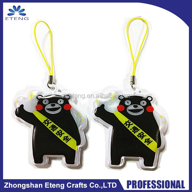 Smart custom hanging gifts reflective charm keychain