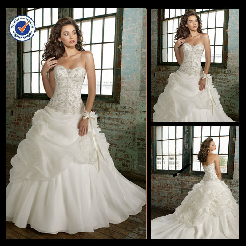 WB00047 Hot sale fancy victorian country style princess ball gown wedding dresses