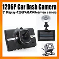 OEM 1296P Ultra HD Car Dash Cameras H4 with 3inch Display And Second Camera