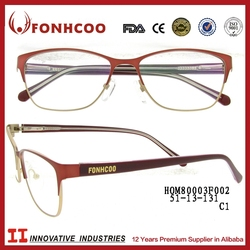 FONHCOO Promotional Good Quality Women Half Rim Memory Metal Optical Frame
