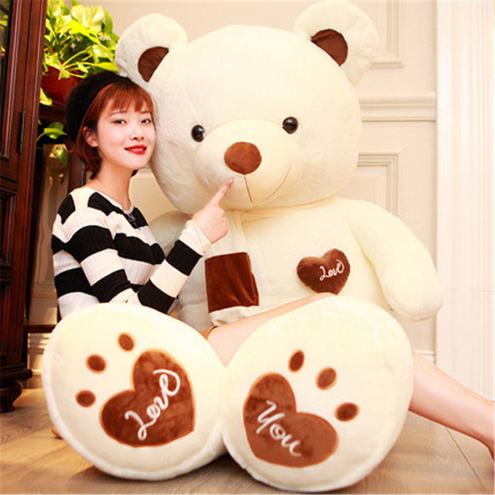 Fancytrader Huge Giant Love Teddy Bears Plush Toys Gifts for Girls Soft Big Stuffed Bears Doll Christmas New Year Valentine's Day Gifts 1