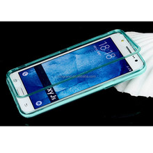 Transparent Flip Cover Acrylic+TPU Phone case Shell For Samsung Galaxy J5