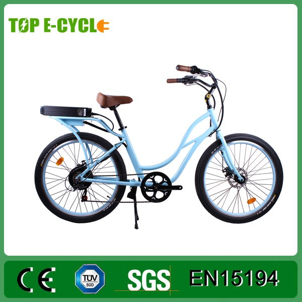 TOP/OEM 26' 48V 500W CE Ladies Beach Cruiser Electric Bike/Cheap City Electric Bicycle