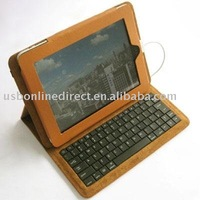 fashionable designed Leather Case Cover With keyboard for Tablet pc