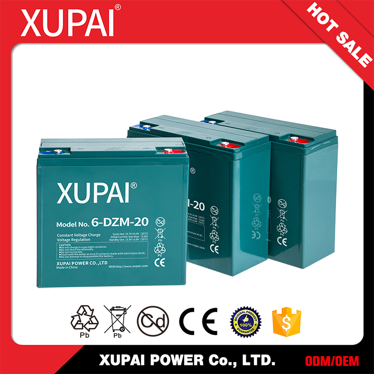 XUPAI high quality two way radio rechargeable battery 12V 20Ah Li-ion Battery Pack