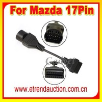 For Mazda17Pin to 16Pin Mazda OBD OBD2 16 pin Diagnostic Adapter cables with High Quality