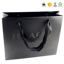 Customized black paper shopping bag for wedding dress