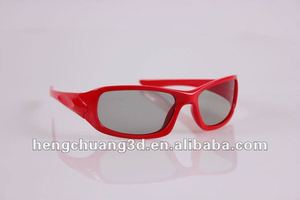 plastic linear polarized 3d glasses video projector glasses