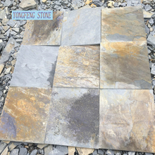 Slate culture stone natural stone wall cladding multi color cut to size tile veneer panel