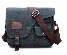 Casual Buckle and Rivet Design Messenger Bag For Men