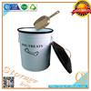 Metal keep fresh box with Aluminum shovel/metal storage container/storage box for dog food