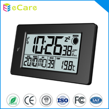 Desktop led backlight weather station radio controlled clock